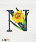 AO1044 Lee's Needle Arts Letter N, Narcissus 16 Mesh