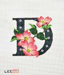 AO1034  Letter D, Dogwood 16 Mesh Lee's Needle Arts