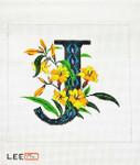 AO1040 Lee's Needle Arts Letter J, Jasmin 16 Mesh