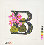 AO1032 Letter B, Begonia canvas - 16 Mesh Lee's Needle Arts