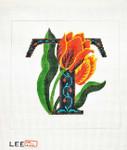 AO1050 Lee's Needle Arts Letter T, Tulip 16 Mesh