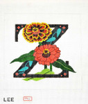AO1056 Lee's Needle Arts Letter Z, Zinnia 16 Mesh