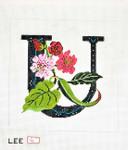 AO1051 Lee's Needle Arts Letter U, Unicorn 16 Mesh
