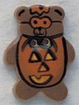 """86028 Mill Hill Button Pumpkin Teddy Bear; 7/8"""" x 1 1/8"""""""
