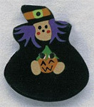"""86025 Mill Hill Button Witch; 1"""" x 1 1/4"""""""
