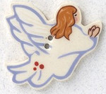 """86011R Mill Hill Button Angel Facing Right; 1 1/2"""" x 1 1/8"""""""