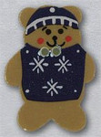 """86097 Mill Hill Button Teddy Bear With Sweater ; 3/4"""" x 1"""""""