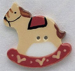 """86004 Mill Hill Button Large Rocking Horse; 1 1/4"""" x 1 3/8"""""""