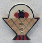 "86056 Mill Hill Button Yarn Basket; 7/8"" x 7/8"""