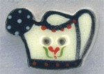 """86044 Mill Hill Button Watering Can; 7/8"""" x 1/2"""""""