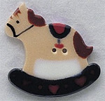 """86057 Mill Hill Button Rocking Horse; 1 1/4"""" x 1 3/8"""""""