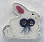 """86043 Mill Hill Button Bunny; 3/4"""" x 3/4"""""""