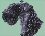 04-1943 Kerry Blue Terrier (Head) by Brenda Franklin Designs