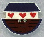 "86114 Mill Hill Button Ark; 1 1/8"" x 7/8"""