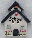 "86118 Mill Hill Button School House; 7/8"" x 1"""