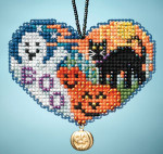 MH163105 Mill Hill Charmed Ornament Kit Love Halloween (2013)