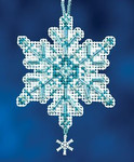 MH162301 Mill Hill Charmed Ornament Kit Aqua Crystal (2012)