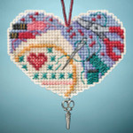 MH163104 Mill Hill Charmed Ornament Kit Love Stitching (2013)