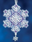 MH162303 Mill Hill Charmed Ornament Kit Amethyst Crystal (2012)