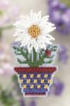 MH181105 Mill Hill Seasonal Ornament Kit White Daisy (2011)
