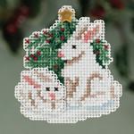MH183303 Mill Hill Seasonal Ornament Kit Winter Bunnies (2013)