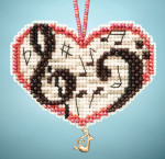 MH163101 Mill Hill Charmed Ornament Kit Love Notes (2013)