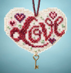 MH163106 Mill Hill Charmed Ornament Kit Love (2013)
