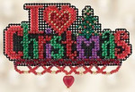 MH1182301 Mill Hill Seasonal Ornament Kit I Love Christmas (2012)
