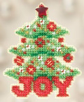 MH182304 Mill Hill Seasonal Ornament Kit Joy Tree (2012)