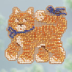 MH183103 Mill Hill Seasonal Ornament / Pin Kit ALL BEADED Cool Cat (2013)