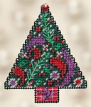 MH182303 Mill Hill Seasonal Ornament Kit Paisley Tree (2012)