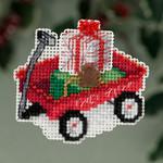 MH183306 Mill Hill Seasonal Ornament Kit Red Wagon (2013)