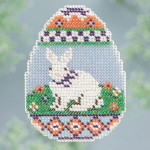 MH183102 Mill Hill Seasonal Ornament / Pin Kit ALL BEADED Bunny Egg (2013)