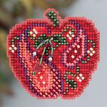 MH183202 Mill Hill Seasonal Ornament Kit Jeweled Apple (2013)