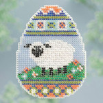 MH183105 Mill Hill Seasonal Ornament / Pin Kit ALL BEADED Sheep Egg (2013)