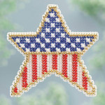 MH183101 Mill Hill Seasonal Ornament Kit ALL BEADED Patriotic Star (2013)