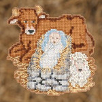 MH192301 Mill Hill Trilogy Ornament Kit Baby Jesus (2012)