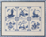 "7712899 Eva Rosenstand Kit Blue Dutch Tiles 15"" x 20""; Linen; 25ct"