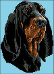 05-1311 Black And Tan Coonhound by Brenda Franklin Designs