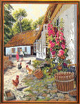 "7792710 Eva Rosenstand Kit Children With Chickens 26"" x 20""; Aida; 14ct"