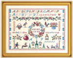 "7712007 Eva Rosenstand Kit Sampler 14"" x 18""; Linen; 26ct"