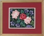 """77084608 Eva Rosenstand Kit Clematis & Roses 14"""" x 11""""; Aida; 18ct"""