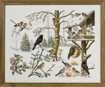 "7712651 Eva Rosenstand Kit Eating Birds 22"" x 18""; Linen; 26ct"