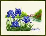 "7712303 Eva Rosenstand Kit Bridge with Flowers 13"" x 10""; Linen; 26ct"