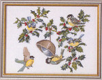 "7792451 Eva Rosenstand Kit Birds & Holly 16"" x 12"" Aida; 14ct"