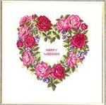 """7712840 Eva Rosenstand Kit Heart Of Roses 16"""" x 16""""; Linen; 25ct"""