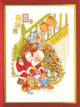 "7712985 Eva Rosenstand Kit Santa Claus with Children 12"" x 16""; Linen; 26ct"