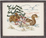 "7792767 Eva Rosenstand Kit Winter Animals 20"" x 16""; Aida; 14ct"