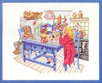 "7714101 Eva Rosenstand Kit Girl at Table 12"" x 16""; Linen; 26ct"