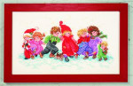 "7714258 Eva Rosenstand Kit Children In Snow 12"" x 20""; Linen; 26ct"
